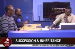 LAWYERS ON CALL-15TH FEBRUARY 2020  (SUCCESSION AND INHERITANCE)