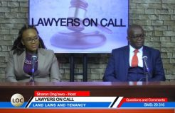 LAWYERS ON CALL-6TH NOVEMBER 2018 (LANDLORDS AND TENANCY)